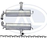 Глушитель основной ЗАЗ 1102-03, закатной (пр-во ТМК 134)