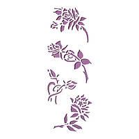 Трафарет 11х33 см Цветы
