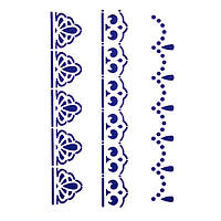Трафарет декоративный 14х20 см Бордюры