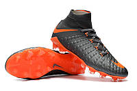 Футбольные бутсы Nike Hypervenom Phantom III DF FG Dark Grey/Total Orange/White, фото 1