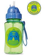 Лёгкая бутылка, поильник с трубочкой Skip Hop Zoo Straw Bottle, Dakota Dinosaur! США.