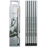 Набор графитных карандашей Marco Raffine 2Н-3В, 6 шт. картон