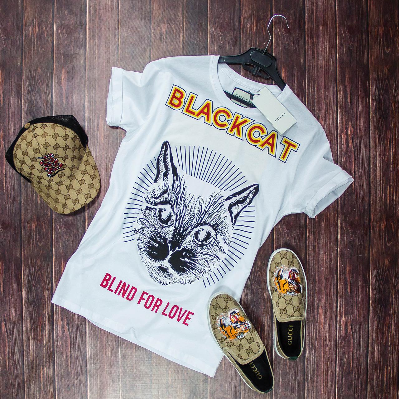 fb7c083302c8 Футболка Gucci BlackCat, Реплика, цена 720 грн., купить в Львове ...