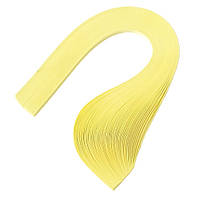 Бумага для квиллинга (полоски) 3 мм, 160 г/м2, 100 шт. желтый пастельный
