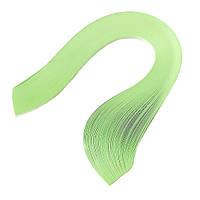 Бумага для квиллинга (полоски) 3 мм, 160 г/м2, 100 шт. зеленый пастельный