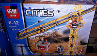 Конструктор Lepin 02069 City 7905 Высотный башенный кран 778 дет, фото 1
