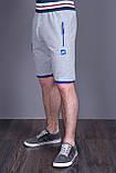 Чоловічі трикотажні шорти NIKE, світло-сірого кольору, фото 2