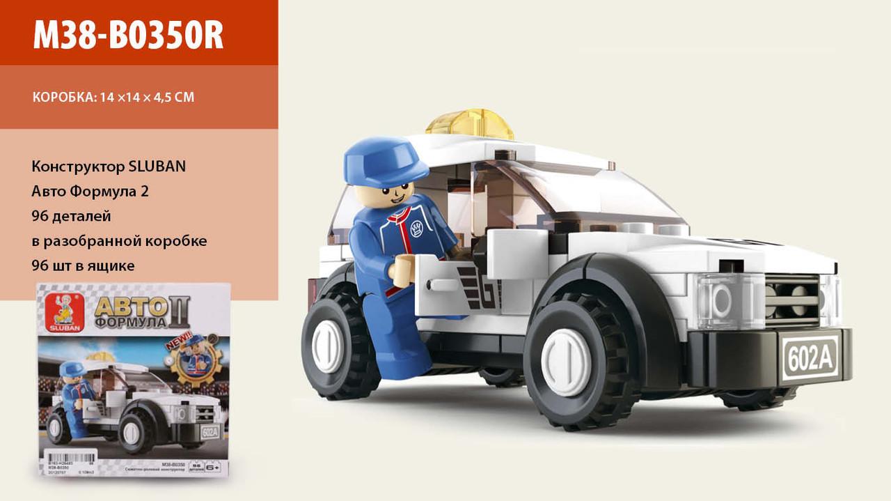 Конструктор SLUBAN M38-B0350 Автогонки, машинка, 96 деталей, фігурка, в коробці, 16,5-14-4,5 см
