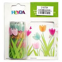 Лента самоклеющаяся прозрачная Тюльпаны, 2 м Heyda