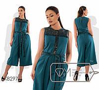 Комбинезон женский с вышивкой ( 2 цвета)Зеленый PY/-107