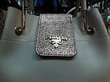 Женские сумки брендовые эко кожа Prada (молочный+золото)26*28, фото 2