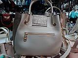 Женские сумки брендовые эко кожа Prada (молочный+золото)26*28, фото 3