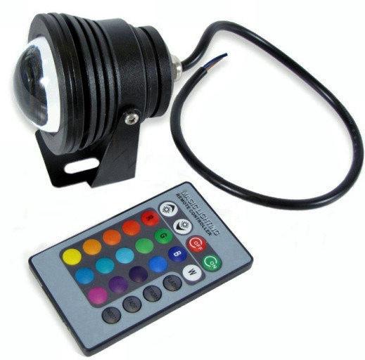 разноцветный прожектор 10 ватт