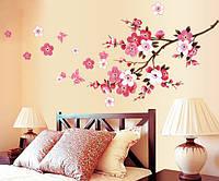 """Виниловые наклейки на стену """"Цветущий персик"""""""