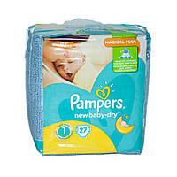 Подгузники Pampers New Baby-Dry Размер 1 (Для новорожденных) 2-5 кг, 27 подгузников (4015400264453)