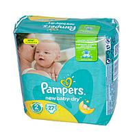 Подгузники Pampers New Baby-Dry Размер 2 (Mini) 3-6 кг, 27 подгузников (4015400537397)