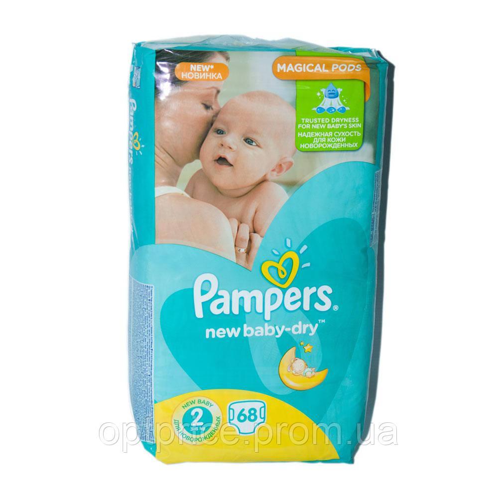 Подгузники Pampers New Baby-Dry Размер 2 (Mini) 3-6 Кг, 68 ... 484e0ca0e56