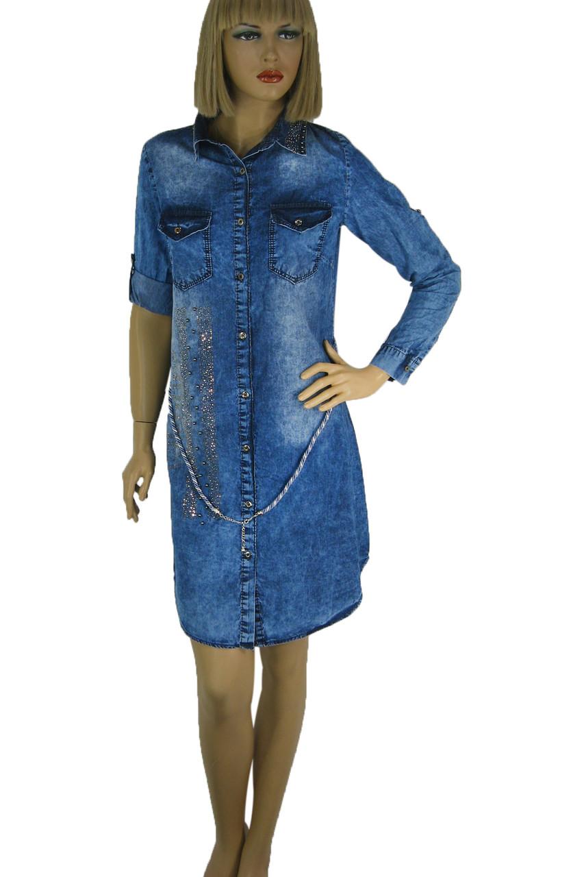 Джинсовое платье рубашка Keyan