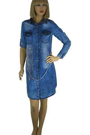 Джинсовое платье рубашка Keyan, фото 2