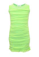 Платье для девочки со стразами, зелёное