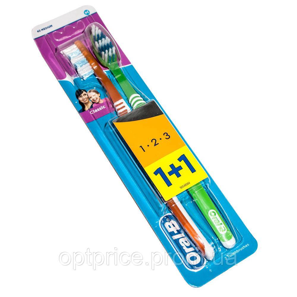 Набор зубных щеток Oral-B 1+1 3-Эффект Classic средней жесткости ... 2e6e9f42e5f99