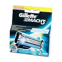 Сменные картриджи для бритья Gillette Mach 3 (2 шт) (3014260251970)