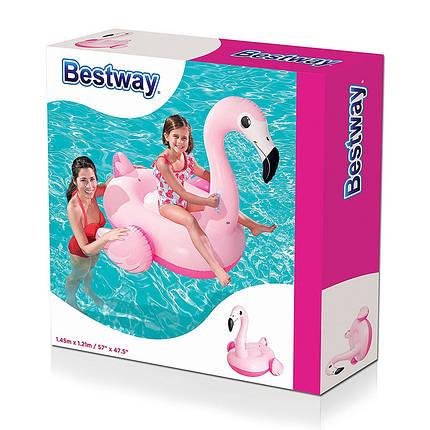 "Детский надувной плотик Bestway 41099 ""Фламинго"", 145х121 см, фото 2"