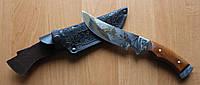 Нож охотничий Архар, ручная работа, с кожаным чехлом в комплекте