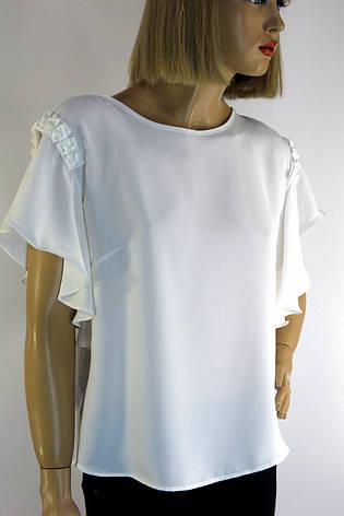 Нарядна  блузка з короткими рукавами воланами Miss Poiss, фото 2