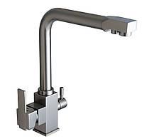 Смеситель для кухни комбинированный под фильтр Globus Lux GLLR-0100 нержавейка