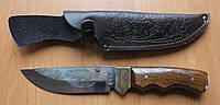 Нож охотничий Медведь, ручная работа, с кожаным чехлом в комплекте
