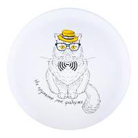 Тарелка с котом Не крутите мне фаберже Kronos Top (tps_347-8718140)