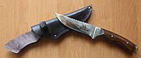 Нож охотничий Робинзон, ручная работа, с кожаным чехлом в комплекте
