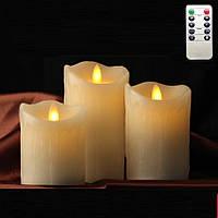 Светодиодные свечи Scented Candles набор 3шт, фото 1