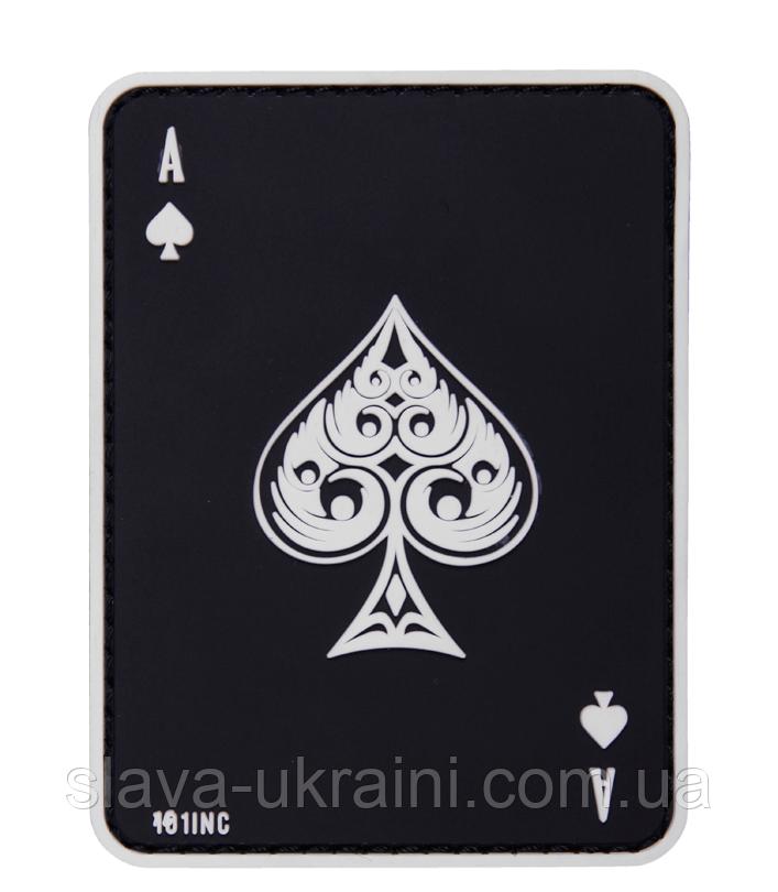 101 Inc Ace Of Spades 3d Pvc Patch Black 86