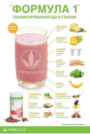 Herbalife протеиновый коктейль для похудения формула 1 со вкусом Тропических фруктов, фото 2