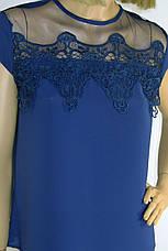 Нарядна блузка з мереживом на плечах, фото 3