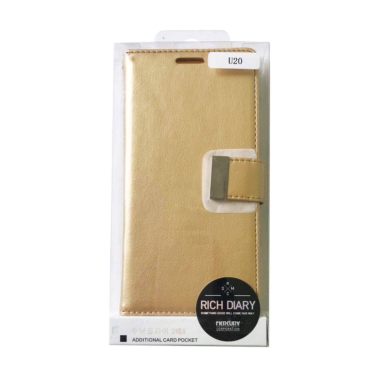 Чехол книжка Meizu U20 Goospery Rich Diary Wallet Золото