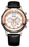 Женские наручные часы Megir 2042 Guaro Black. Стильные часы с хронографом