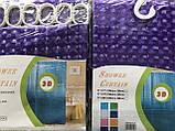 Штора для душа Фиолетовая 180 - 180 (3 - D), фото 2