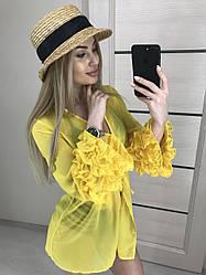 Накидка для пляжа желтая