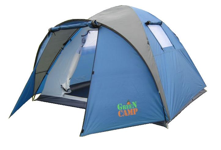 Палатка четырехместная Green Camp 1004, 335х250х180 см