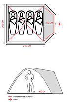 Палатка четырехместная Green Camp 1004, 335х250х180 см, фото 3