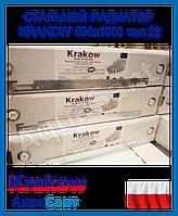 Стальной радиатор Krakow 500x1000 тип 22 боковое подключение