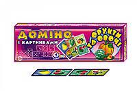 """Доміно """"Фрукти та овочі"""" вел., в кор. 40*14*4см, ТМ Технок, Україна (16 шт.)"""