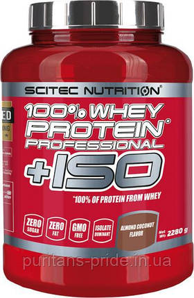 Scitec Nutrition 100 % Whey Protein Professional + ISO 2280 грам, фото 2
