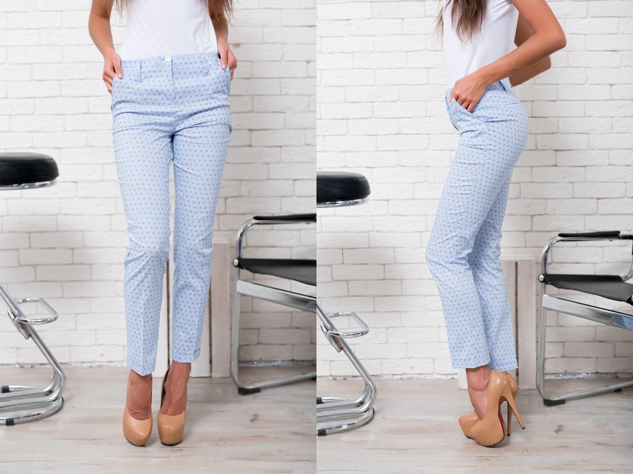 """Узкие женские брюки """"Dina"""" с карманами (4 цвета)"""