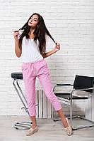 """Укороченные женские брюки в полоску """"Comfort"""" с карманами (2 цвета)"""