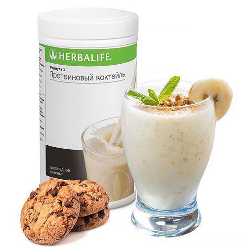 Herbalife протеиновый коктейль для похудения формула 1 со вкусом Kремовое печенье