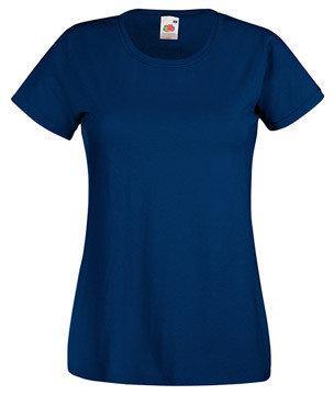 Женская футболка с вырезом 372-32-k414  fruit of the loom
